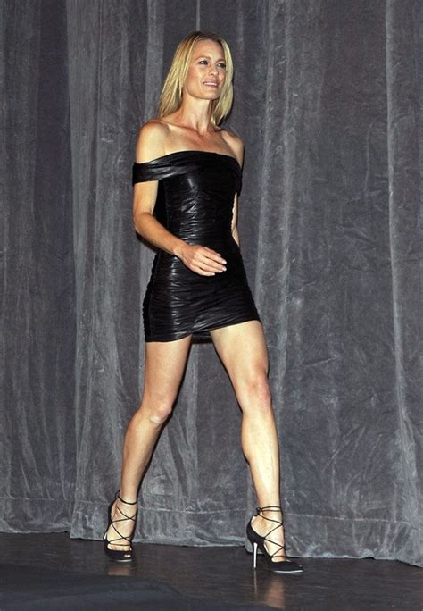 robin wright killer legs in a short little black number