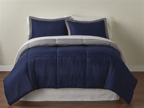 navy and gray bedding colormate reversible comforter set navy gray shop your