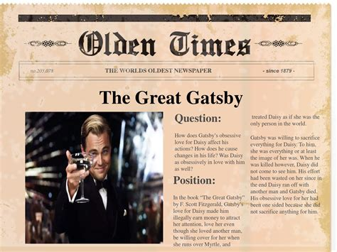 book report on the great gatsby the great gatsby book report by thinh do issuu