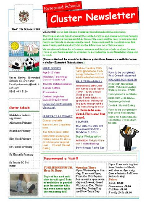 primary school newsletter templates 28 images 9 school newsletter templates free sle exle