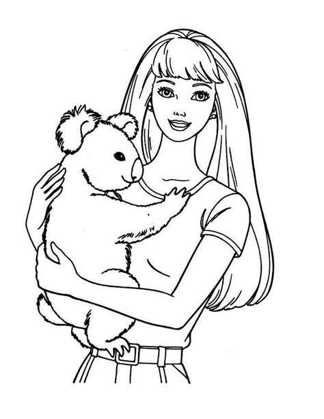 coloring pages printables barbie free barbie printable coloring pages