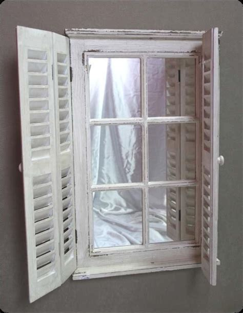 french mirror wall ornate chic shabby shutter shutters new white window mirrors newstead