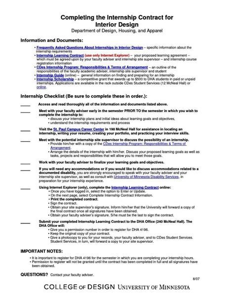 learning agreement template student learning contract template sletemplatess