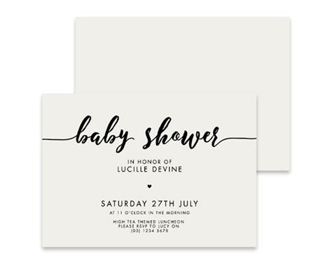 And Black Baby Shower Invitations by Black And White Baby Shower Invitation Confetti