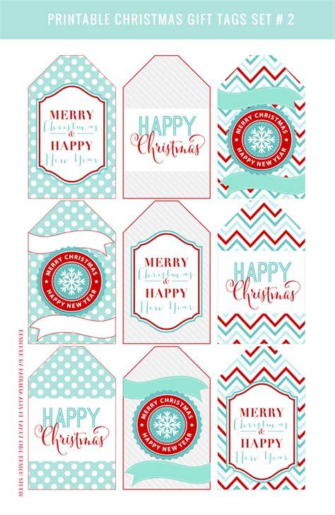 A4 Printable Christmas Gift Tags | day 2 printable christmas gift tags fancy girl designs