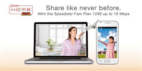 pldt home dsl speedster fam plan lets you data with