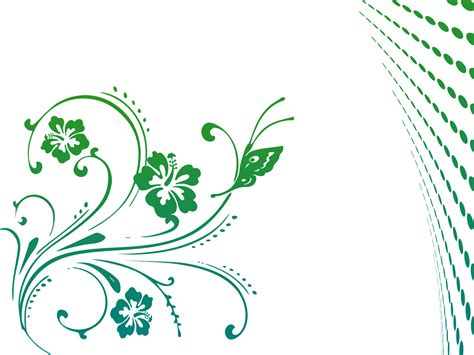 Butterfly P butterfly scroll backgrounds flowers green templates