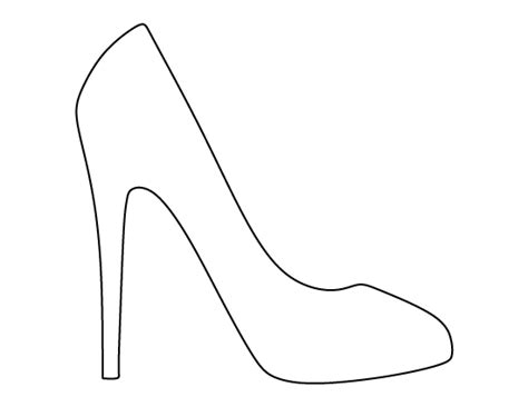 printable high heel template