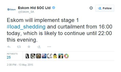 Load Shedding Today by Eskom Load Shedding Update 13 May