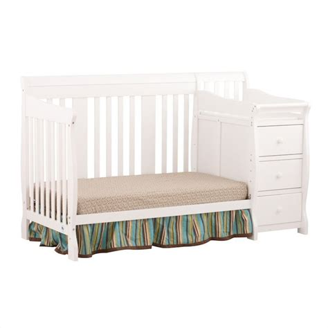 Combo Crib by 4 In1 Crib Changer Combo In White 04586 471
