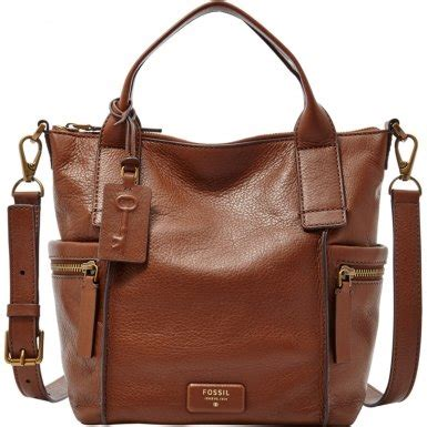 Tas Fossil Molly Satchel Multi Brown fossil emerson medium satchel brown co uk shoes