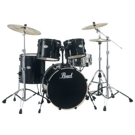 pearl vx vision rock drum kit in jet black with free stool