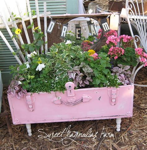 upcycled garden sweet magnolias farm the marketplace on monday
