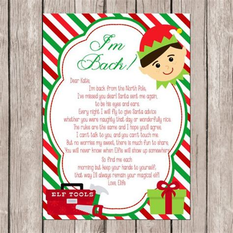 printable personalized elf on the shelf letter pinterest the world s catalog of ideas