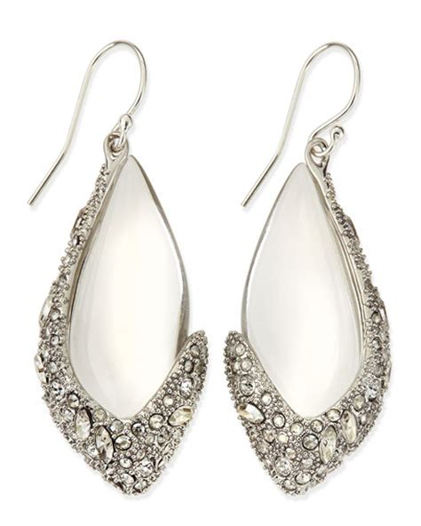 Asymmetric Drop Earrings bittar asymmetric lucite drop earrings