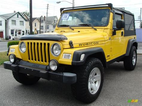 jeep rubicon yellow 2006 solar yellow jeep wrangler unlimited rubicon 4x4