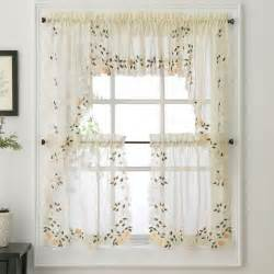 Ebay Kitchen Curtains New Rosemary Floral Kitchen Tier Curtain Ebay