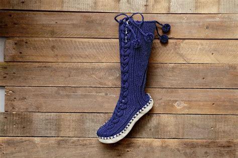 knit mukluks knit muk luks slippers allfreeknitting