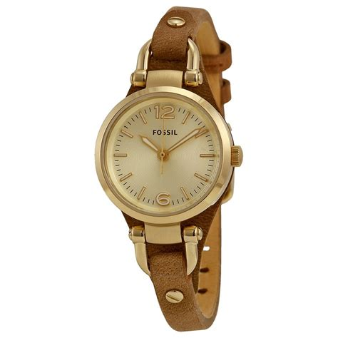 Fossil Brown fossil mini chagne brown leather es3264 fossil