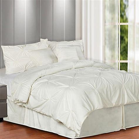 plush bedding comforters buy pintuck plush 7 piece full comforter set in cream from