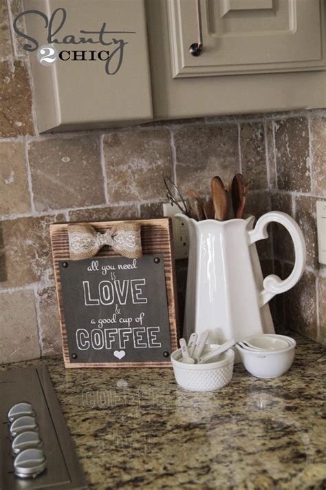 coffee themed kitchen decorating ideas youtube diy frame and free coffee printable shanty 2 chic
