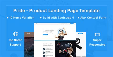 product landing page templates pride product landing page template yuuthemes