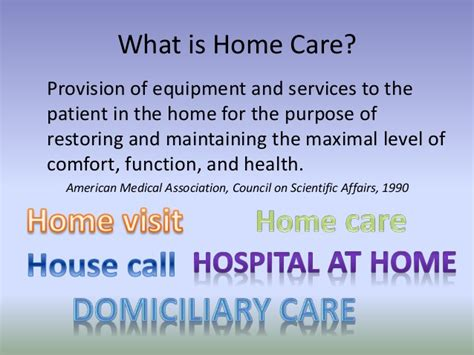 the doctor and home care