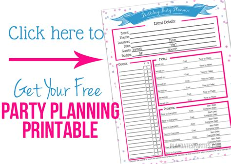 birthday party planning sheet everything i need on one why you need to budget your party planning time