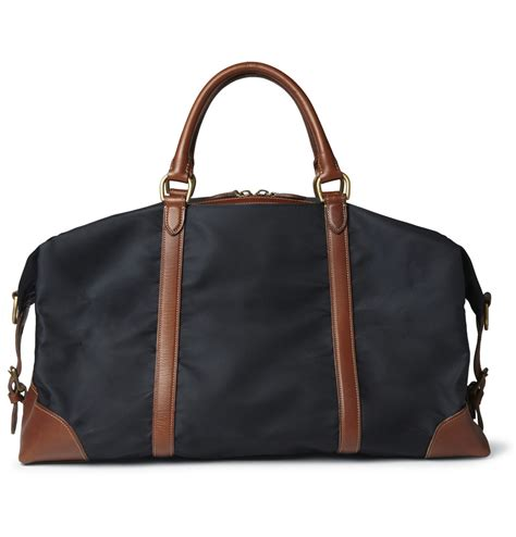 Polo Ralph Holdall polo ralph leather trimmed canvas holdall in blue