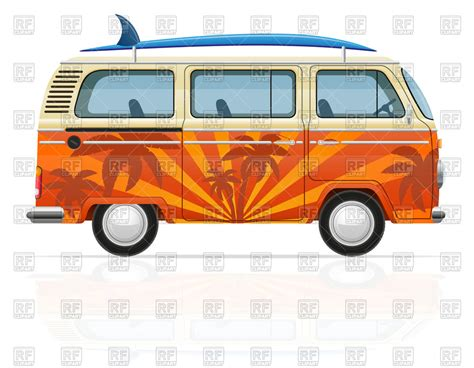 volkswagen van with surfboard clipart surfboard clipart van pencil and in color surfboard
