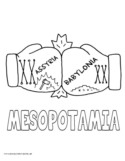 mesopotamia map coloring page ancient mesopotamia coloring pages coloring page cartoon