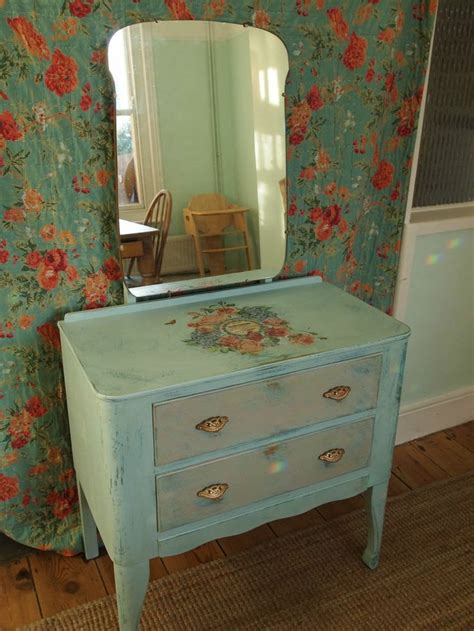 Vintage Decoupage Furniture - 50 best painted shabby chic decoupage dressing tables