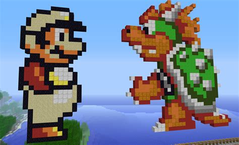famous characters in pixel art mario and luigi minecraft mario top hd wallpapers