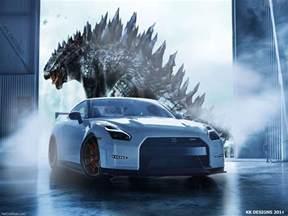 Godzilla Nissan Nissan Gtr R35 Godzilla Tribute