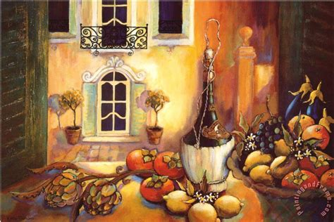 kitchen paintings karel burrows kitchen in tuscany painting kitchen in tuscany print for sale