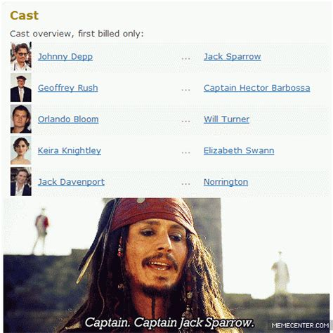 Captain Jack Sparrow Memes - its captain jack sparrow by syehfuckinway meme center