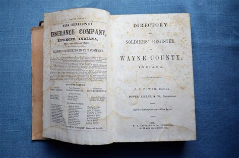 Wayne County Deed Search By Address Directory And Soldier S Register Of Wayne County Indiana