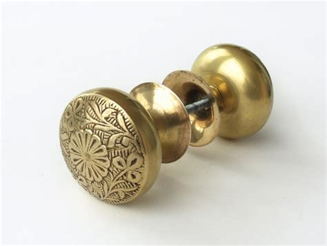 vintage beautifu brass door knobs gold tone by vintagerussia