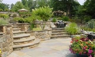 patio designs for sloped yards backyard patio landscaping sloped front yard landscape