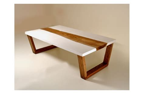 concrete and wood coffee table walnut concrete coffee table table project