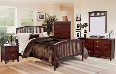 Lawson Mission Style Cappuccino Finish Bedroom Set Free Mission Bedroom Furniture
