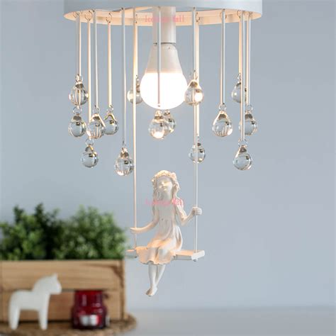 chandelier for little girl s bedroom nordic modern aisle crystal ceiling chandelier light sweet