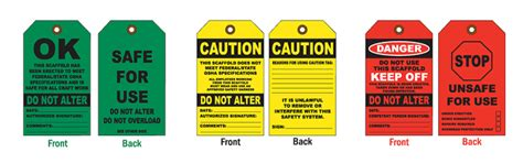 Scaffolding Safe For Use Do Not Alter Tag E1516 By Safetysign Com Scaffold Safety Program Template