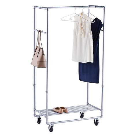 How To Make Garment Rack by Industrial Pipe Clothes Rack The Container Store