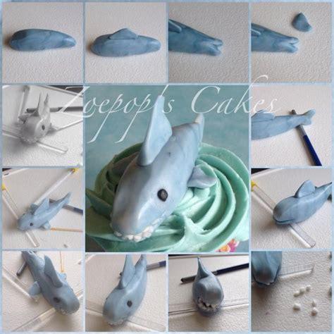 baby shark fondant shark cake topper tutorial sugar art pinterest