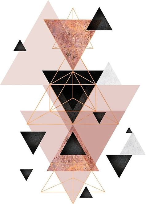 triangle pattern wall best 25 triangles ideas on pinterest rose gold