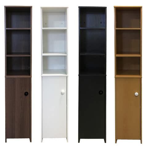 black bathroom storage cabinet shelving unit cupboard bathroom cabinet wooden white black beech dk walnut ebay