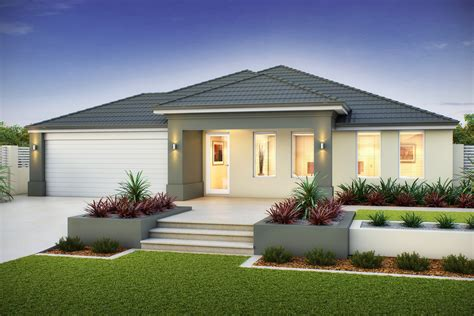 home single storeyed contemporary home with carporch