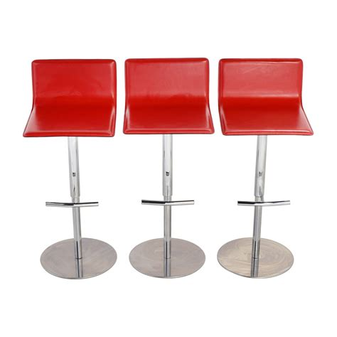 Reclining Bar Stools by Shop Trabaldo Italian Leather Adjustable Bar Stools