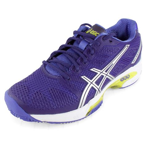 womens purple athletic shoes asics s gel solution speed 2 clay court tennis shoes